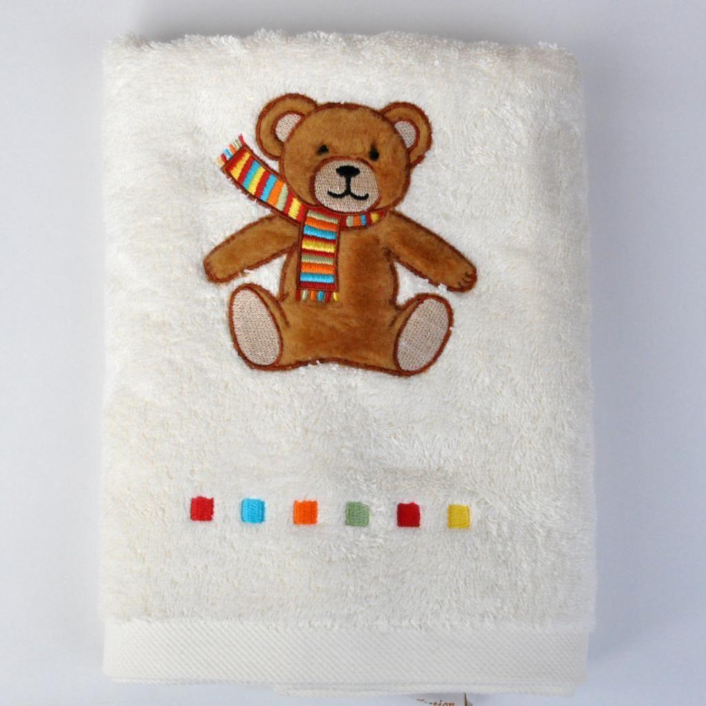 broderie el 233 a linge de toilette b 233 b 233 s et enfants gt linge de toilette gt famille ours pr 233 nom offert