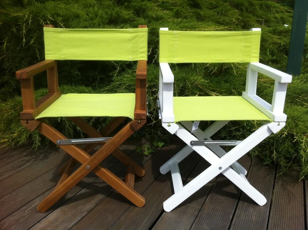 fauteuil metteur en scne personnalis toile anis - Fauteuil Metteur En Scene