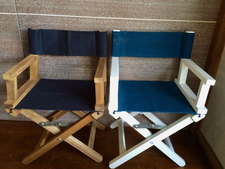 fauteuil metteur en scne personnalis toile marine ou canard - Fauteuil Metteur En Scene