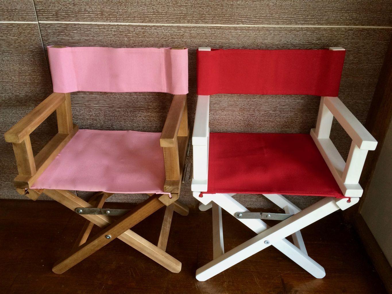 fauteuil metteur en scne personnalis toile corail ou rose - Fauteuil Metteur En Scene